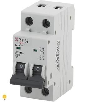 Автоматический выключатель  ВА47-29 2P 4А кривая C ЭРА NO-900-22