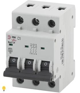 Автоматический выключатель  ВА47-29 3P 1А кривая C ЭРА NO-900-35