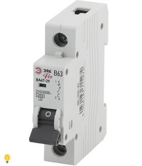 Автоматический выключатель ВА47-29 1P 63А кривая B ЭРА NO-900-82