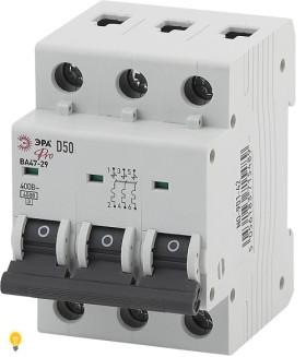 Автоматический выключатель  ВА47-29 3P 50А кривая D ЭРА NO-901-42
