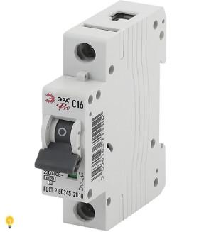 Автоматический выключатель ВА47-63 1P 16А кривая C ЭРА NO-901-44