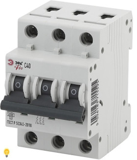 Автоматический выключатель  ВА47-63 3P 40А кривая C ЭРА NO-901-53