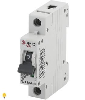 Автоматический выключатель  ВА47-63 1P 2А кривая C ЭРА NO-901-59