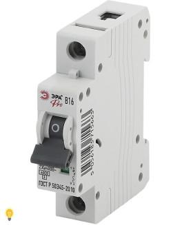 Автоматический выключатель   ВА47-63 1P 16А кривая B ЭРА NO-901-60