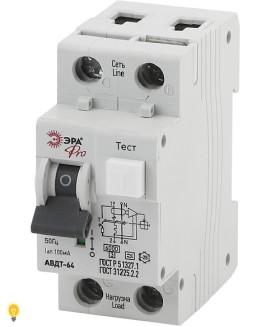 Автоматический выключатель дифференциального тока NO-901-98 АВДТ 64 C32 100мА 1P+N тип A ЭРА Pro