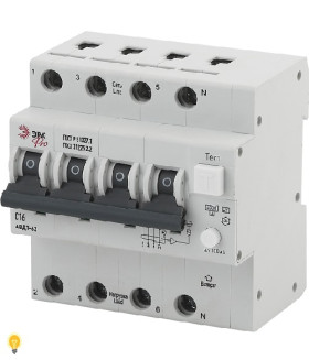 АВДТ 63 3P+N C16 100мА тип A ЭРА NO-902-00