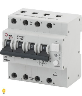 АВДТ 63 3P+N C25 100мА тип A ЭРА NO-902-18