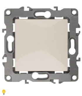 Выключатель, 10АХ-250В, Эра12, слоновая кость 12-1101-02