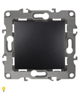 Выключатель, 10АХ-250В, Эра12, антрацит 12-1101-05