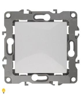 Выключатель, 10АХ-250В, без м.лапок, Эра12, белый 12-1001-01