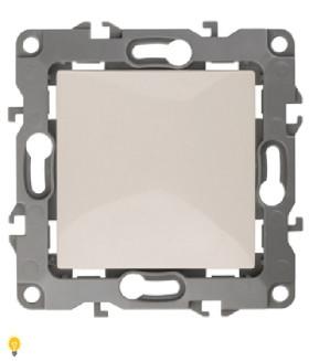 Выключатель, 10АХ-250В, без м.лапок, Эра12, слоновая кость 12-1001-02