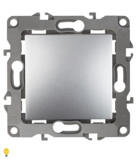 Выключатель, 10АХ-250В, без м.лапок, Эра12, алюминий 12-1001-03