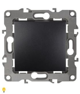 Выключатель, 10АХ-250В, без м.лапок, Эра12, антрацит 12-1001-05