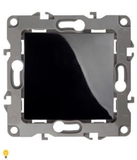 Выключатель, 10АХ-250В, без м.лапок, Эра12, чёрный 12-1001-06