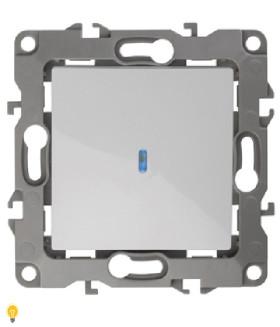 Выключатель с подсветкой, 10АХ-250В, Эра12, белый 12-1102-01