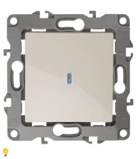 Выключатель с подсветкой, 10АХ-250В, Эра12, слоновая кость 12-1102-02