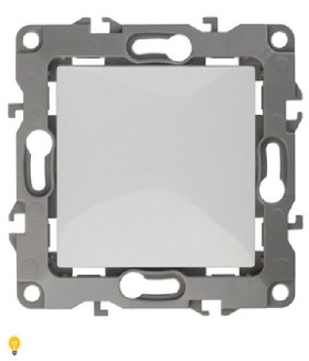 Переключатель, 10АХ-250В, Эра12, белый 12-1103-01