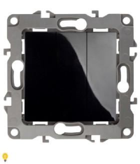 Выключатель тройной, 10АХ-250В, Эра12, чёрный 12-1107-06