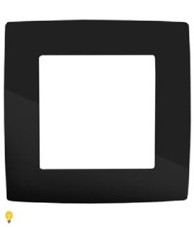 Рамка на 1 пост, Эра12, чёрный 12-5001-06