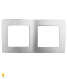 Рамка на 2 поста, Эра12, алюминий 12-5002-03