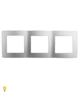 Рамка на 3 поста, Эра12, алюминий 12-5003-03