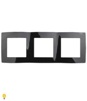 Рамка на 3 поста, Эра12, чёрный 12-5003-06