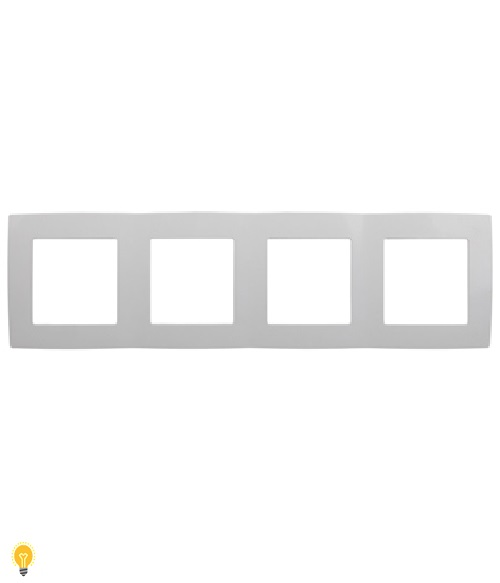 Рамка на 4 поста, Эра12, белый 12-5004-01