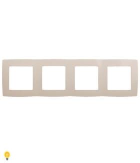 Рамка на 4 поста, Эра12, слоновая кость 12-5004-02