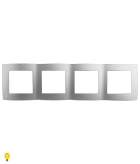 Рамка на 4 поста, Эра12, алюминий 12-5004-03