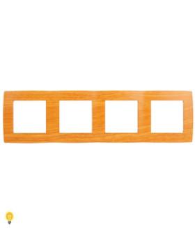 Рамка на 4 поста, Эра12, ольха 12-5004-07