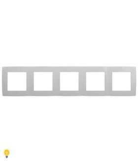 Рамка на 5 постов, Эра12, белый 12-5005-01