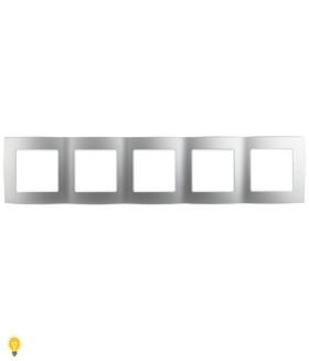 Рамка на 5 постов, Эра12, алюминий 12-5005-03