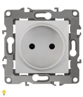 Розетка 2P, 16АХ-250В, Эра12, белый 12-2105-01