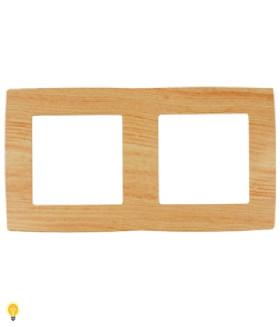 Рамка на 2 поста, Эра12, сосна 12-5002-11