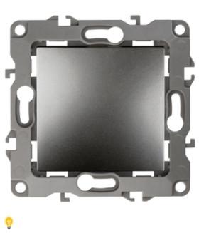Выключатель, 10АХ-250В, без м.лапок, Эра12, графит 12-1001-12