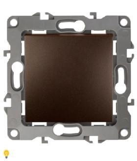 Выключатель, 10АХ-250В, без м.лапок, Эра12, бронза 12-1001-13