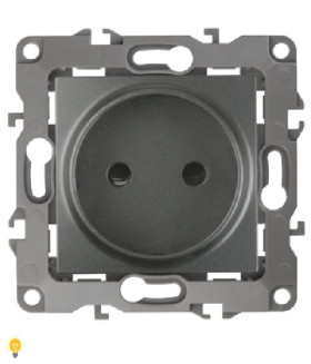 Розетка 2P, 16АХ-250В, Эра12, графит 12-2105-12
