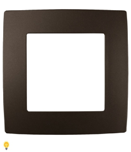 Рамка на 1 пост, Эра12, бронза 12-5001-13