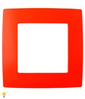 Рамка на 1 пост, Эра12, красный 12-5001-23