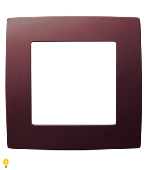 Рамка на 1 пост, Эра12, бордо 12-5001-25
