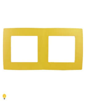 Рамка на 2 поста, Эра12, жёлтый 12-5002-21
