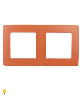 Рамка на 2 поста, Эра12, оранжевый 12-5002-22