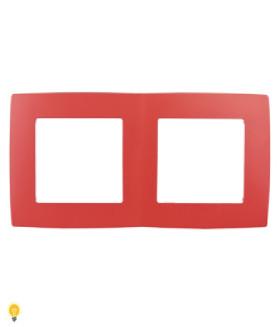 Рамка на 2 поста, Эра12, красный 12-5002-23