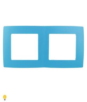 Рамка на 2 поста, Эра12, голубой 12-5002-28