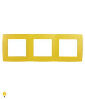 Рамка на 3 поста, Эра12, жёлтый 12-5003-21