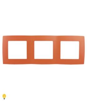 Рамка на 3 поста, Эра12, оранжевый 12-5003-22