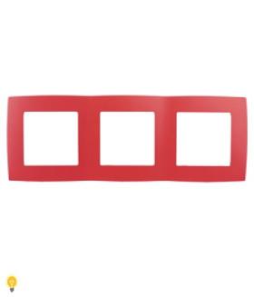 Рамка на 3 поста, Эра12, красный 12-5003-23