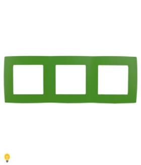 Рамка на 3 поста, Эра12, зелёный 12-5003-27