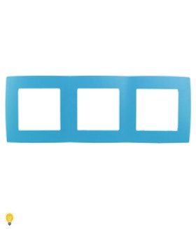 Рамка на 3 поста, Эра12, голубой 12-5003-28