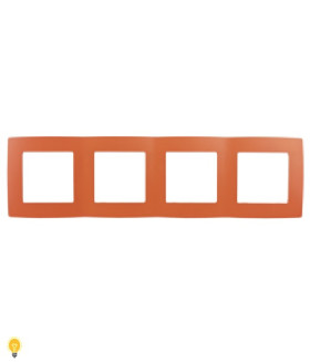 Рамка на 4 поста, Эра12, оранжевый 12-5004-22